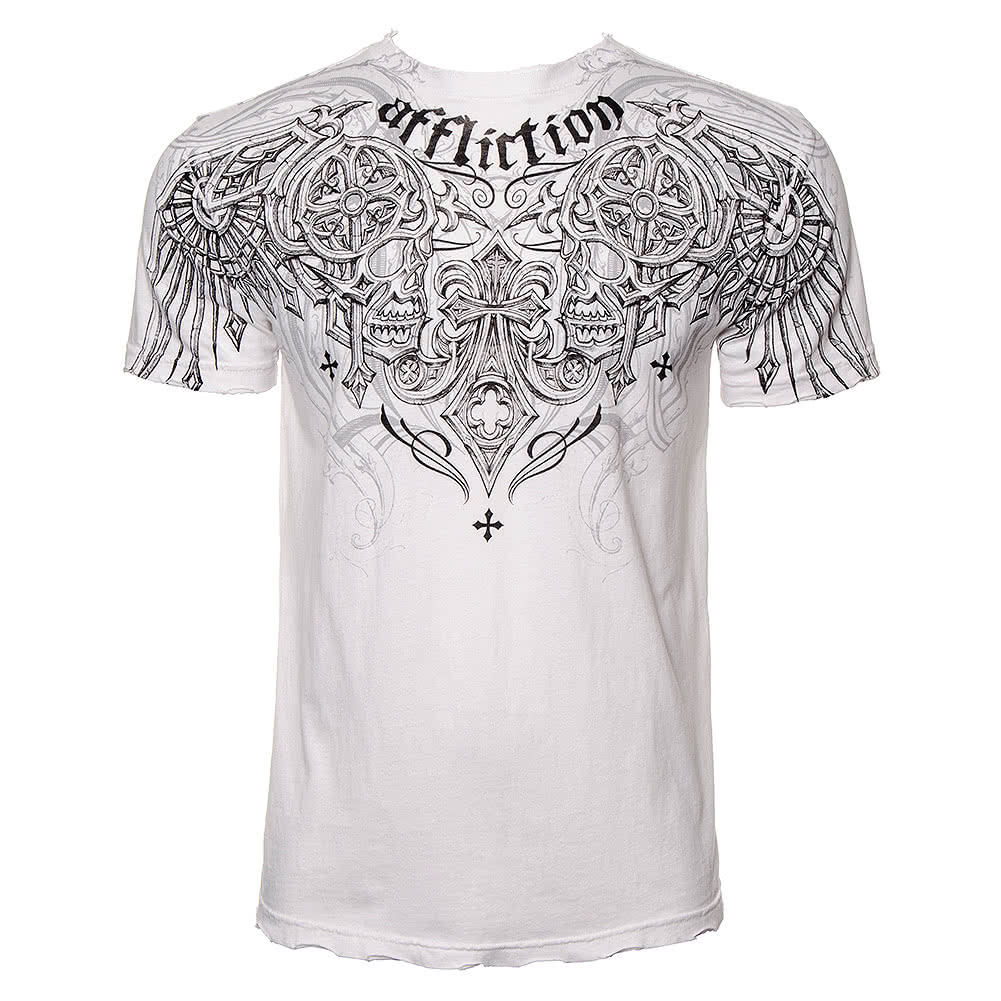 Affliction Deadly Pair T Shirt (White)