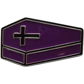 Blue Banana Coffin Belt Buckle (Purple)