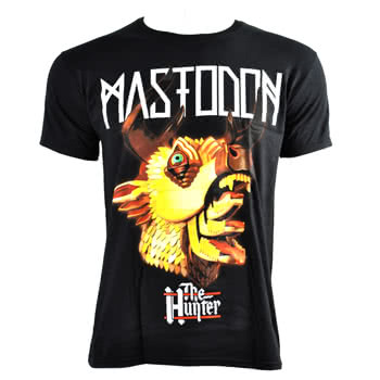 Mastodon Hunter Head Slim T Shirt (Black)