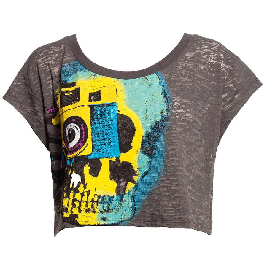 Abbey Dawn Say Cheese Top (Grey)