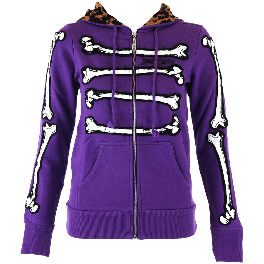 Abbey Dawn Bone Dance Skinny Fit Hoodie (Purple)