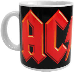 AC/DC Logo Printed Mug (Black/Red)