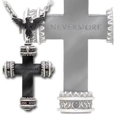 Alchemy Gothic Nevermore Cross Pendant