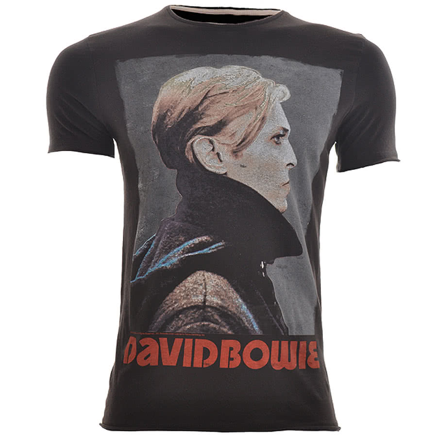 Amplified David Bowie Heroes T Shirt (Grey)