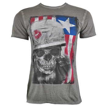 Amplified War Is Hell T Shirt (Grey)