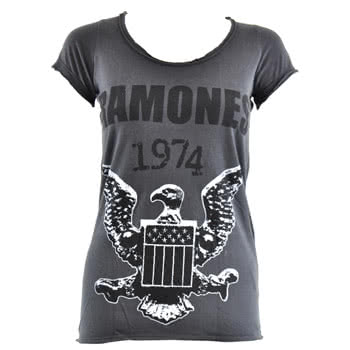 Ramones 74 Design Skinny Fit Premium T Shirt (Grey)