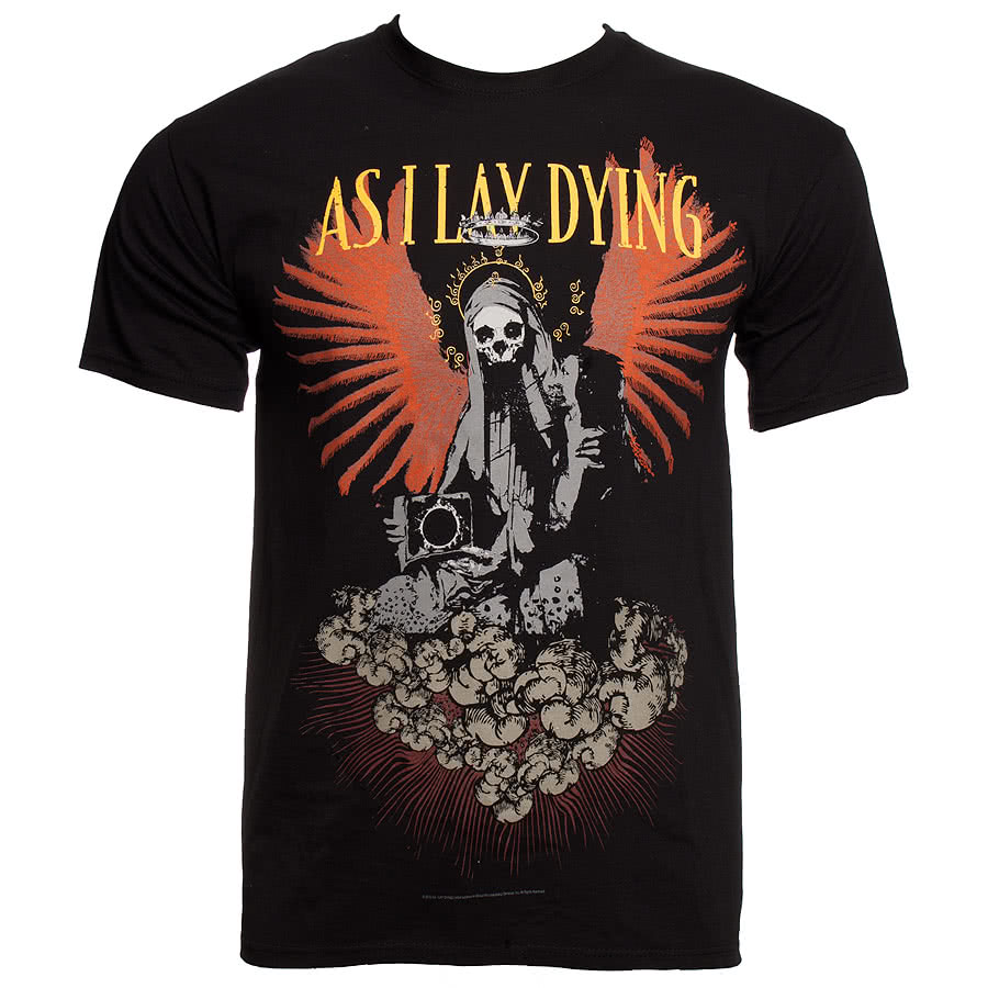 As I Lay Dying Angel Statue T Shirt (Black)