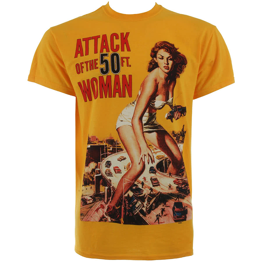 Attack of the 50ft woman t shirt film tees 50ft woman for Attack of the 50 foot woman t shirt