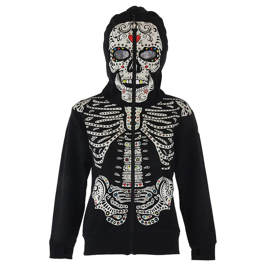 Banned Multi Skeleton Hoodie (Black)