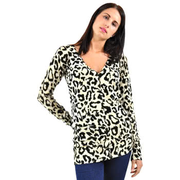 Banned Natural Leopard Print Long Cardigan (Brown)