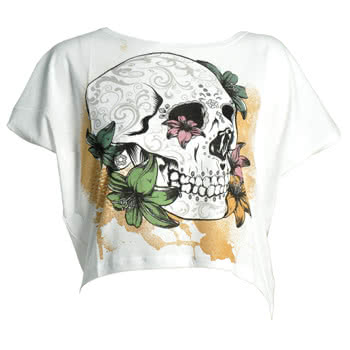 Banned Muerte Top (White)