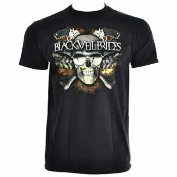 Black Veil Brides Skull T Shirt (Black)