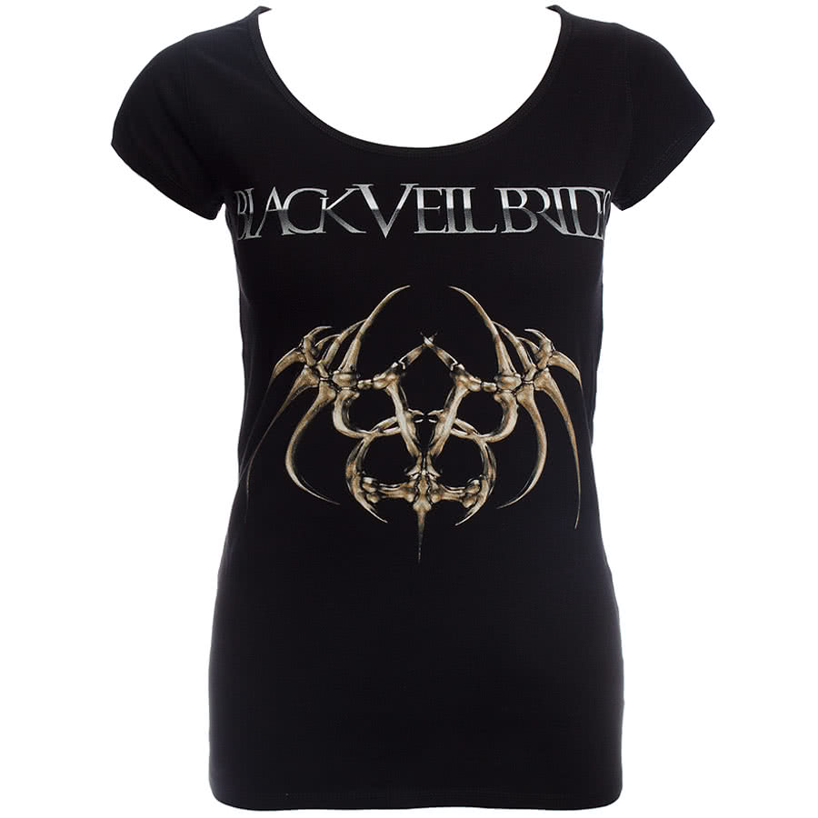 Black Veil Brides Spider Bat Skinny Fit T Shirt (Black)