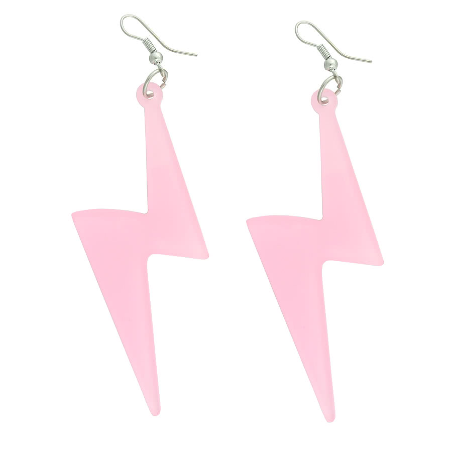 Blue Banana Lightning Earrings (Baby Pink)