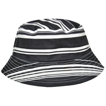 Blue Banana Stripes Festival Hat (Black/White)