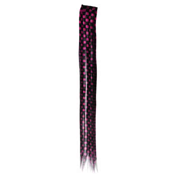 Blue Banana Checkered Hair Piece (Pink/Black)