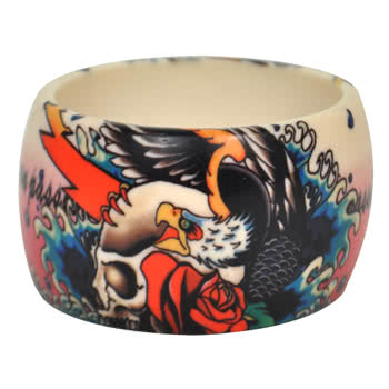 Blue Banana Eagle Print Large Bangle