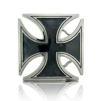 Blue Banana Cross Belt Buckle (Black)