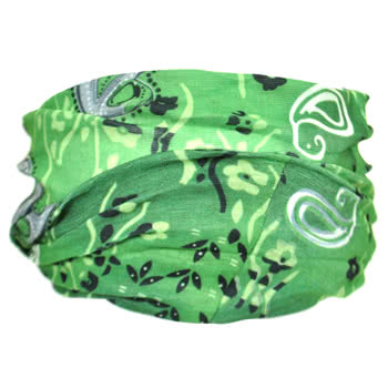 Blue Banana Large Paisley Headband (Green)