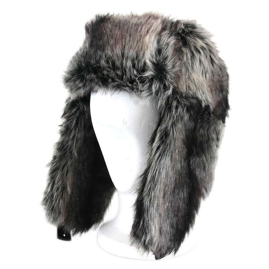 Blue Banana Fur Hat (Grey)