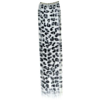 Blue Banana Large Leopard Hair Piece (Black/White)