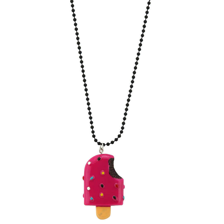 Blue Banana Lolly Necklace (Pink)