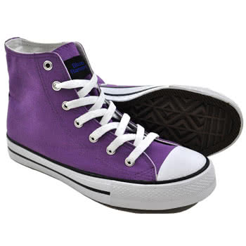 Blue Banana Canvas High Top Boots (Purple)