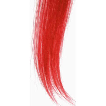 Blue Banana Clip On Hair Extension Piece (Red)