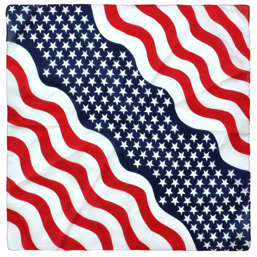 Blue Banana USA Flag Bandana (Red/White/Blue)