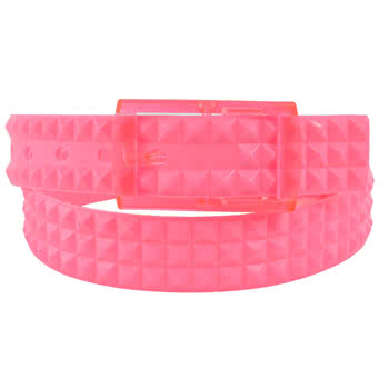 Blue Banana UV Studded Smell Belt (Pink)