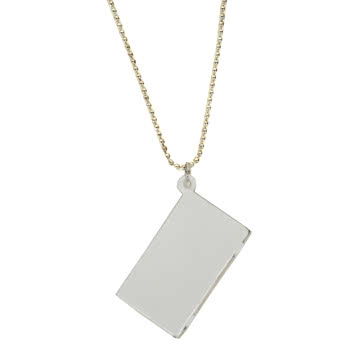 Blue Banana Laptop Necklace (White)