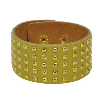 Blue Banana Small 5 Row Studded Wristband (Yellow)