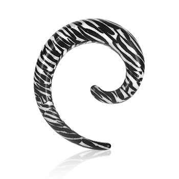 Blue Banana Spiral Ear Stretcher (Zebra)