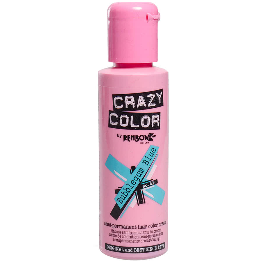 Crazy Colour Bubblegum Blue Semi-Permanent Hair Dye