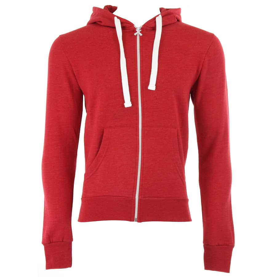 Criminal Damage Skinny Fit Hoodie (Red Marl)