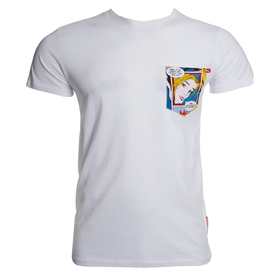 Criminal Damage Comic T Shirt (White)