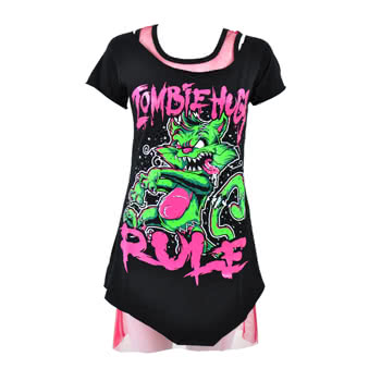 Cupcake Cult Zombie Rules Top (Black)