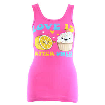 David and Goliath Bitter Sweet Vest Dress (Pink)