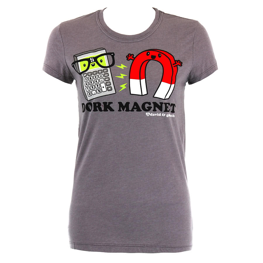 David and Goliath Dork Magnet Skinny Fit T Shirt (Grey)