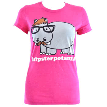 David and Goliath Hipster Skinny Fit T Shirt (Pink)