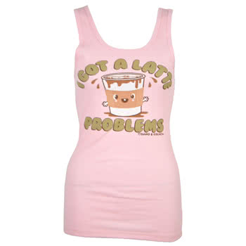 David and Goliath Latte Pyjama Vest Top (Pink)