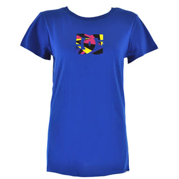 DC Geometric Skinny Fit T Shirt (Blue)