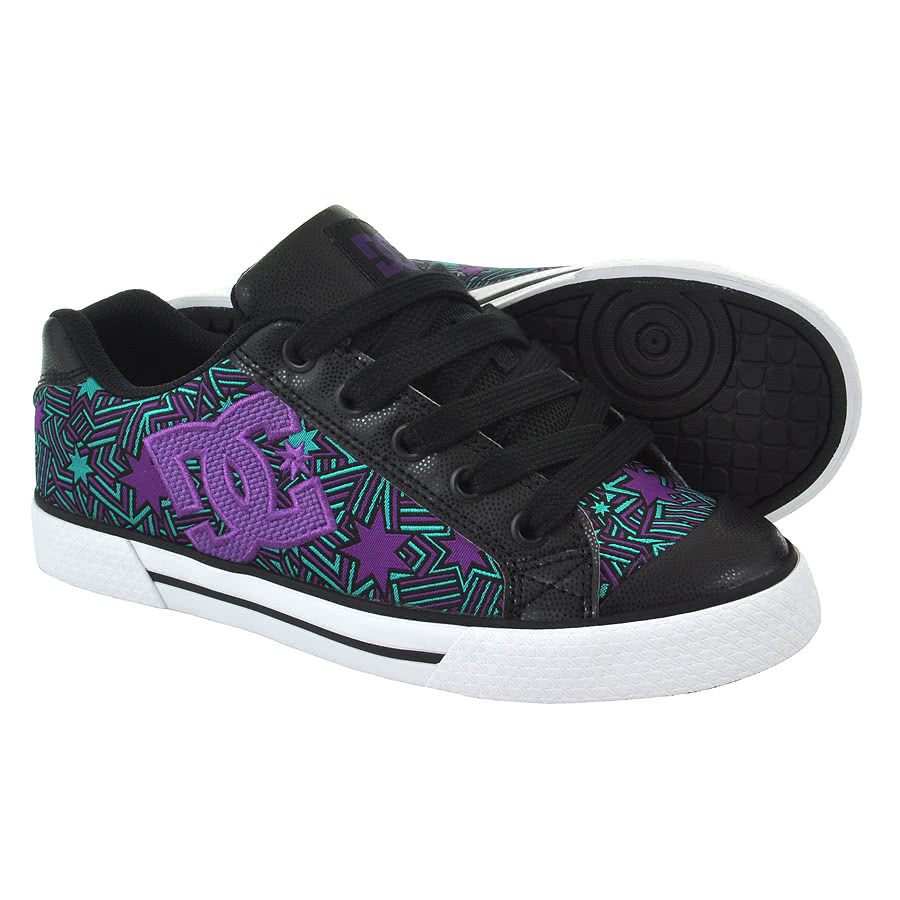 DC Chelsea SE Star Trainers (Black/Purple)