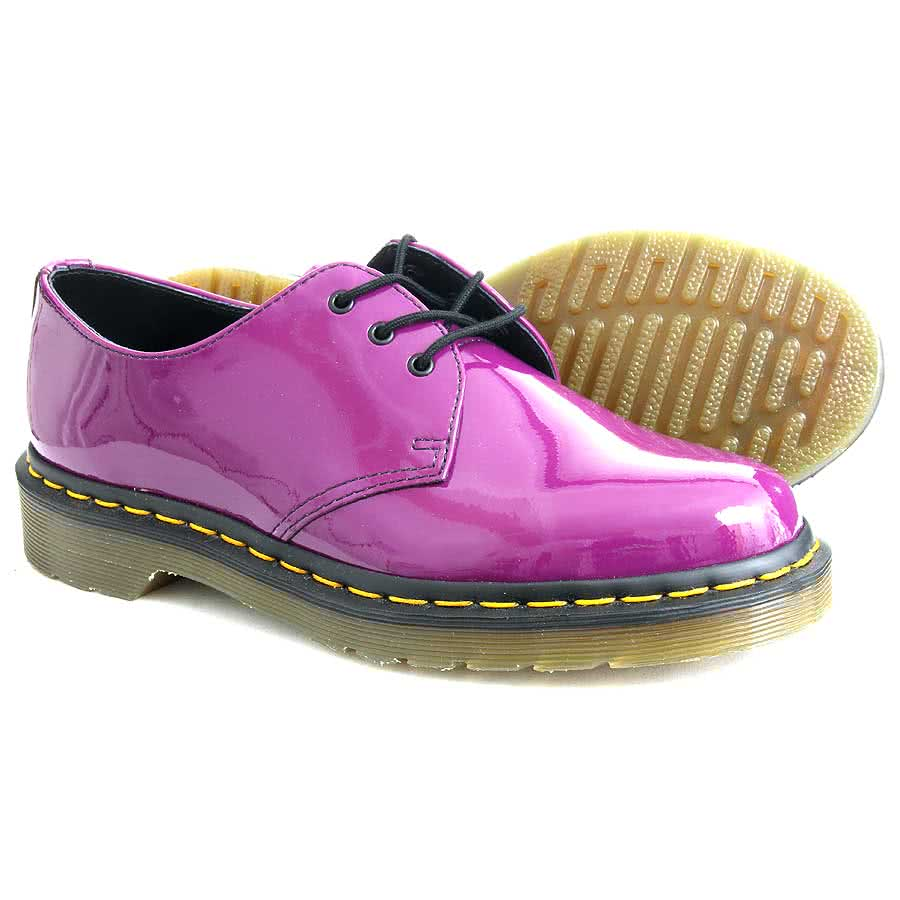 Dr Martens 1461 Patent Shoes (Purple)