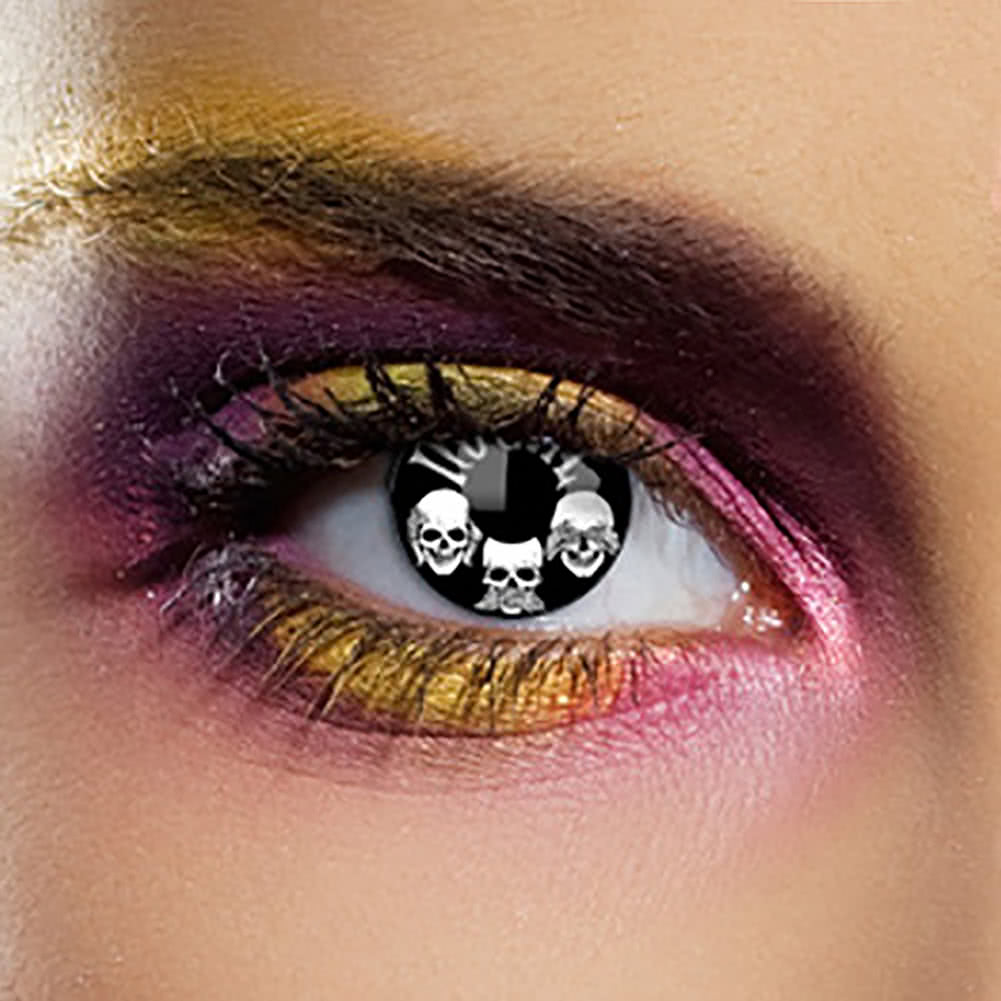 EDIT 1 Year No Evil Coloured Contact Lenses (Black/White)