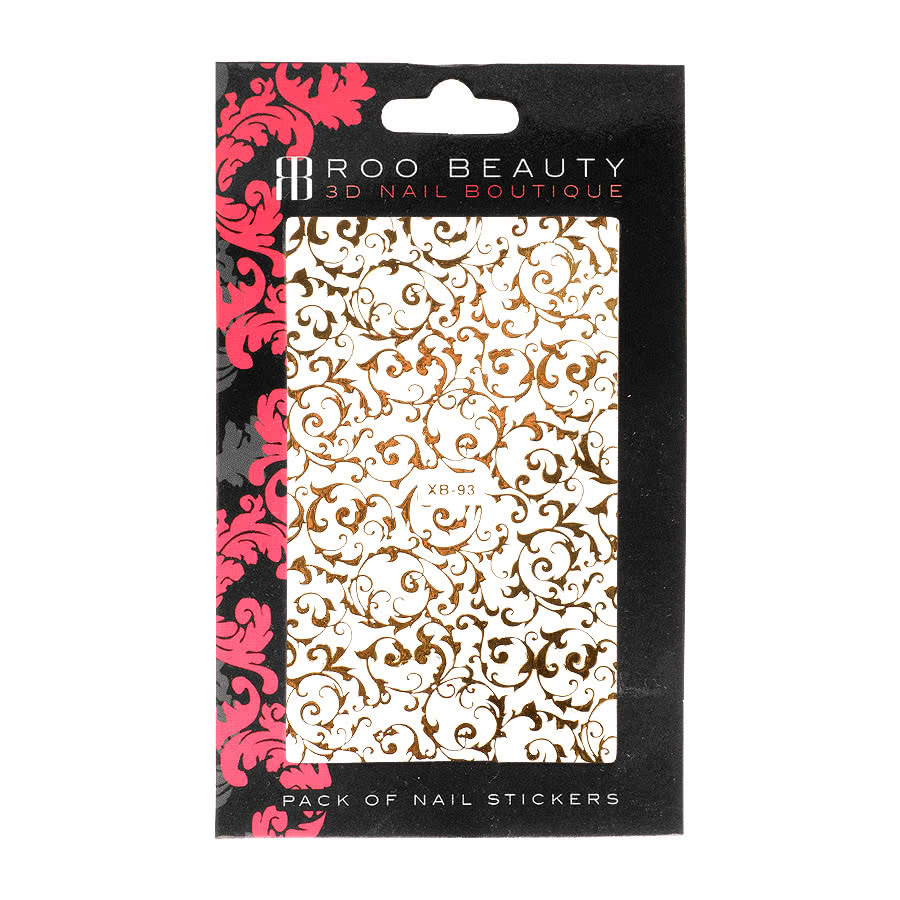 Nail Art Sheets XB-93 Fine Filigree (Gold)