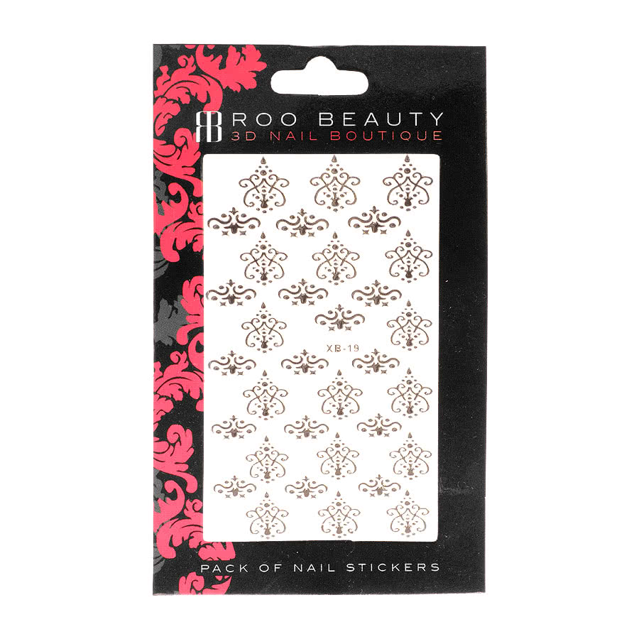Nail Art Sheets XB-19 Lace (Silver)