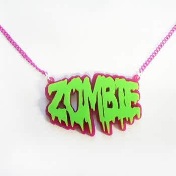 Extreme Largeness Zombie Design Necklace (Pink)
