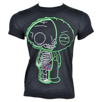 Family Guy Stewie Xray T Shirt (Black)