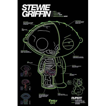 Family Guy Stewie Griffin X Ray Poster